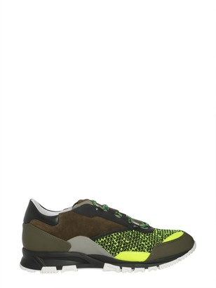 Lanvin Mesh Cross Trainers