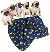 Tuscom Pet Dog Puppy Cat Mat Soft Fleece Blanket Quilt Bed Cushion Pad (M, Blue)