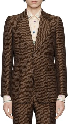 Gucci GG Diagonal Cotton Silk Jacket