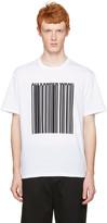 Alexander Wang White Barcode Logo T-shirt