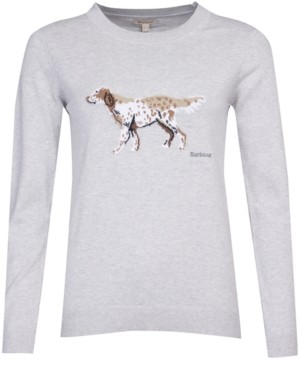 Barbour Dog-Print Sweater
