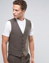 Selected Homme Waistcoat In Brown
