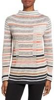 Nic+Zoe Women's Stripe Knit Funnel Neck Top