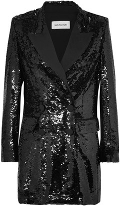 16Arlington Double-breasted Sequined Crepe Blazer