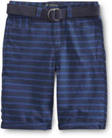 GUESS NEW Belted Horizontal Stripe Short Navy