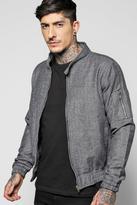 Boohoo Warm Handle Herringbone Harrington Jacket