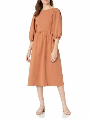 Rachel Pally Women's Midi Dress Waist Seam Puff Sleeve Detail