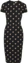 Victoria Beckham Embroidered Jacquard Dress - Black