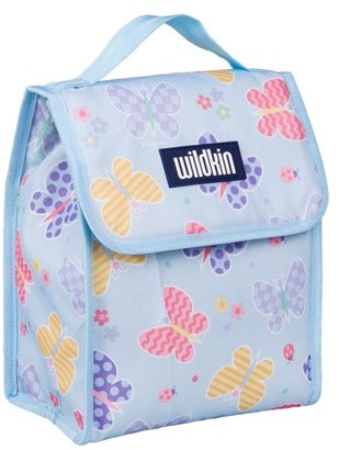Olive Kids Butterfly Garden Blue Insulated Lunch Bag for Boys and Girls