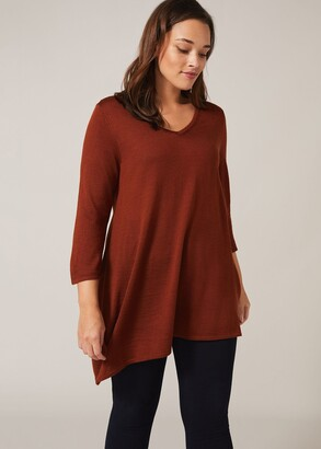 Phase Eight Camilla Asymmetric Knit Top