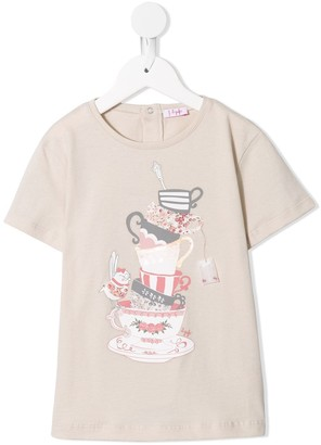 Il Gufo teacups print T-shirt