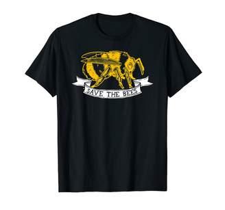 Bumble Bee Comfy Kindness Vegan Tees Save The Bees - Dark Bumblebee T-Shirt