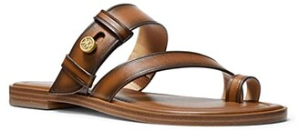 MICHAEL Michael Kors Brayden Flat Sandal (Luggage) Women's Shoes