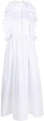 Valentino Ruffled Maxi Shirt Dress