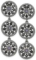 INC International Concepts I.N.C. Pavé & Colored Stone Flower Triple Drop Earrings, Created for Macy's