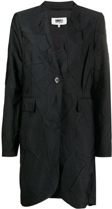 MM6 MAISON MARGIELA Creased-Effect Single-Breasted Coat