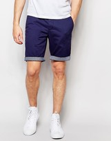 Ted Baker Chino Shorts With Contrast Turn Up In Slim Fit