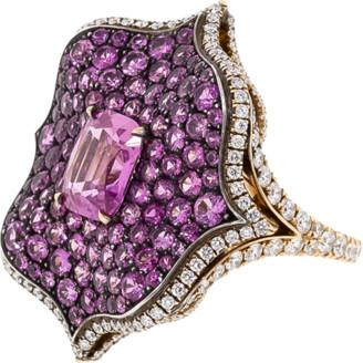 Bayco Pink Sapphire Lotus Ring