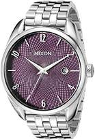 Nixon Women's A4182157 Bullet Analog Display Japanese Quartz Silver Watch
