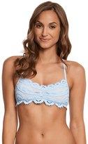 Pilyq Pebble Blue Lace Bralette Bikini Top (DCup) - 8158713