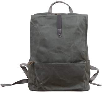Touri 16'' Waxed Canvas Laptop Backpack In Army Green
