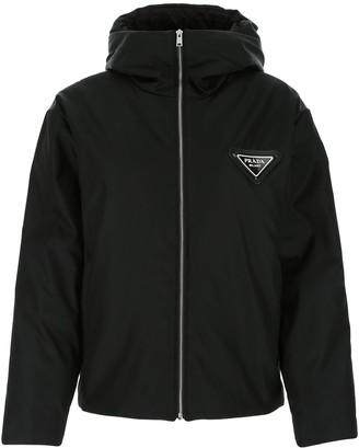 Prada Logo Zipped Jacket