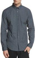 Vince Melrose Printed Long-Sleeve Sport Shirt, Blue
