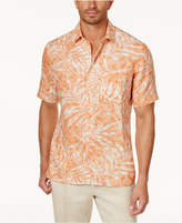 Tasso Elba Men's Leaf-Print Silk & Linen Shirt, Created for Macy's