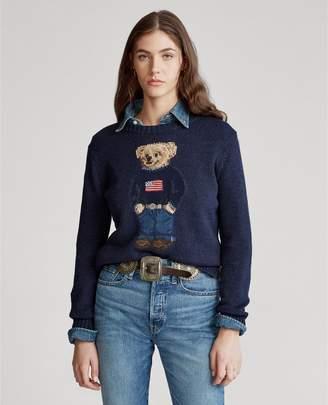 Ralph Lauren Polo Bear Cotton-Linen Sweater