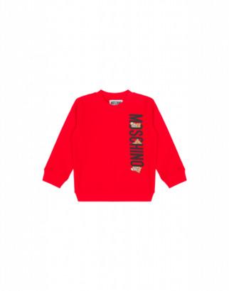 Moschino Teddy Logo Sweatshirt Unisex Red Size 3a It - (3y Us)