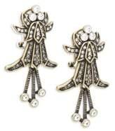 Heidi Daus Deco Crystal Drop Earrings