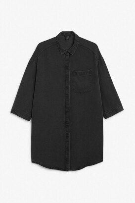 Monki Hidden-button shirt dress