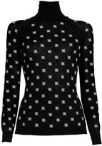 Fendi Embroidered Logo Turtleneck Sweater