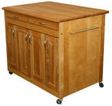 Catskill Craft Kitchen Island with Butcher Block Top