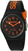 Superdry 'Urban' Quartz Plastic and Silicone Dress Watch, Color:Black (Model: SYG164B)
