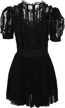 Dolce & Gabbana Short Plumetis And Georgette Dress