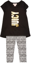Juicy Couture Black Tunic & Floral Leggings - Girls