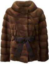 Liska - belted coat - women - Mink Fur - S