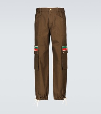 Gucci Interlocking G striped cargo pants