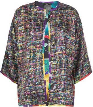 Etro Open-Front Silk Kimono