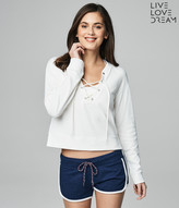LLD Lace-Up Sundazed Sweatshirt