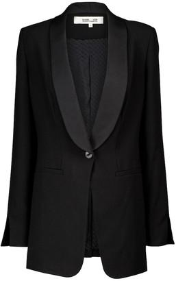 Diane von Furstenberg Cathy crepe blazer