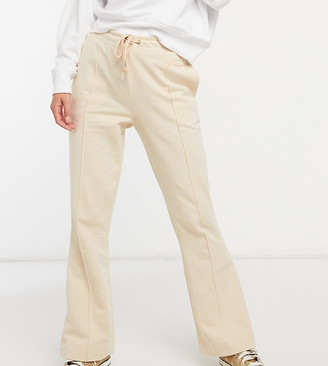 Reclaimed Vintage inspired flared sweatpants with seam detail in stone