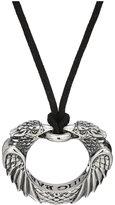 King Baby Studio Men's Double Eagle Circular Pendant Necklace Necklace