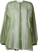 Givenchy billowing sleeve sheer blouse - women - Silk/Cotton - 36