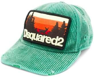 DSQUARED2 corduroy logo patch cap