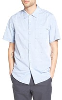 Obey Men's Rose Addiction Woven Print Shirt