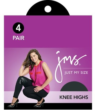 Just My Size Comfort Leg Band Knee Highs, 4-Pair