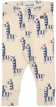 Bobo Choses Zebra Print Organic Cotton Leggings