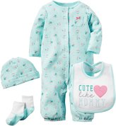 Carter's Baby Girls 4 Piece Sets, Pink, New Born